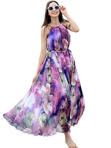 99d373ddd77 MedeShe Women s Chiffon Floral Holiday Beach Bridesmaid Maxi ...