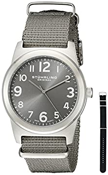buy Stuhrling Original Men'S 409.Set.02 Tuskegee Contrail Watch With Two Interchangeable Straps