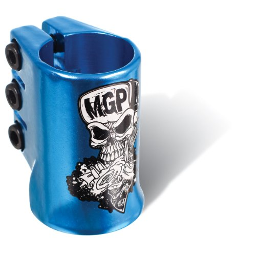MGP Skull Oversize Triple Clamp with Water Decal (Blue)