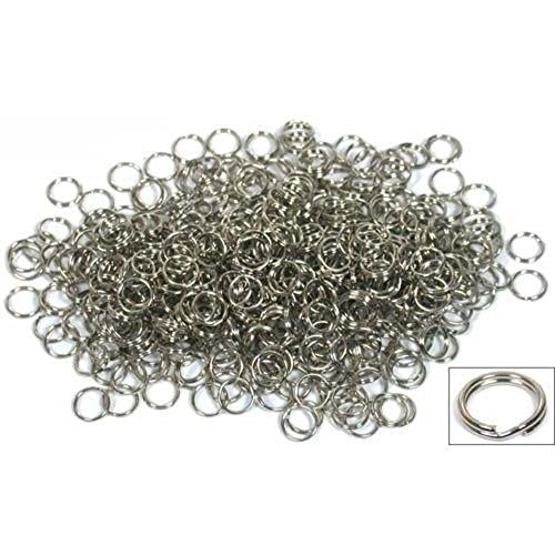 500 9mm Split Ring Charm Bracelet Beading Lure Parts (9mm Split Ring compare prices)