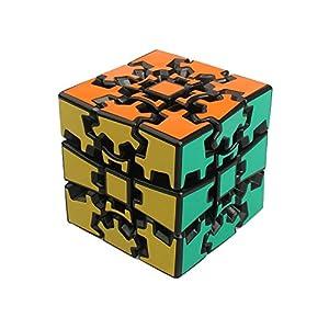 I-xun® 2-Pieces Speed Plastics New Magic Cube Set, Smooth Gear Cube Education Puzzle (2x2+3x3 Black)
