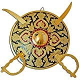 Stop Here Royal Swords For Your Wall(10 Inches,Mutli Color)