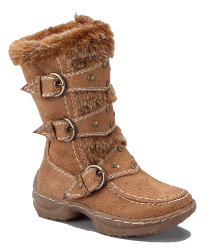 Jessica 82K Little Girls Shearling Boots Camel