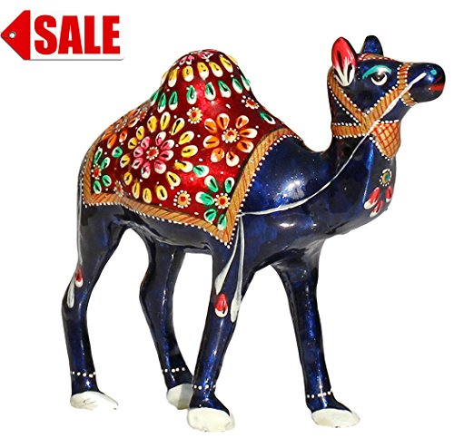 FESTIVAL SALE - Nativity Cute Camel Statue on Sale - Blue 6 inch Single Humped Animal Figurine Sculpture in Unique Elegant- Home & Table Decor / Centerpiece / Lucky Gift by SouvNear - Thanksgiving Home Décor Gifts