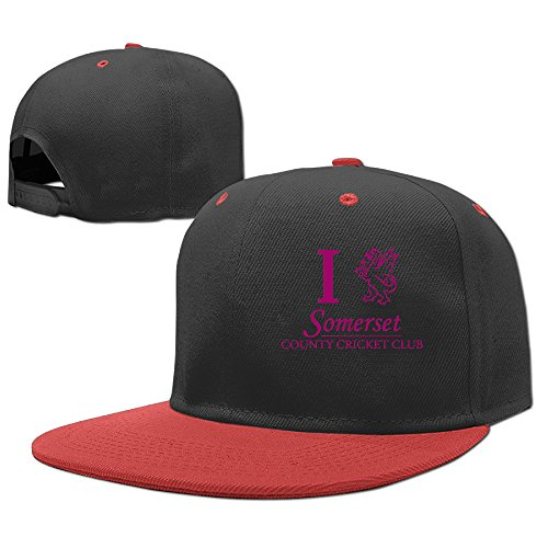 [NCKG Counties Cricket Somerset Fans Under 13 Teen Cap Hats Adjustable, Red] (Baseball Bat Man Costume)