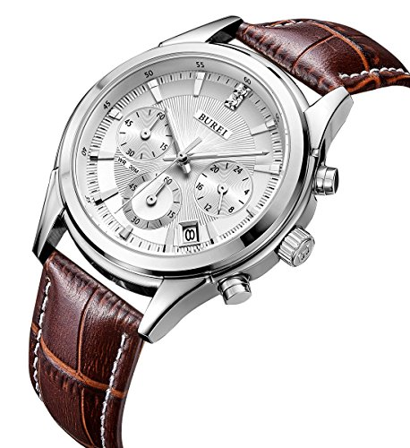burei-chronograph-quartz-wrist-watches-with-scratch-resistant-mineral-crystal-lens-white-dial-brown-