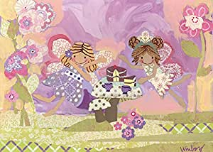 Oopsy daisy Fairy Tea Time Stretched Canvas Wall Art by Winborg Sisters, 14 by 10-Inch