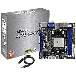 ASRock Socket FM1/AMD A75 FCH/SATA3&USB3.0/A&GbE/Mini-ITX Motherboard A75M-ITX