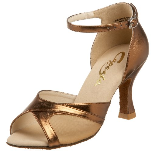 "Capezio Women's Vanessa 2.5"" Social Dance Shoe,Copper,9 M US"