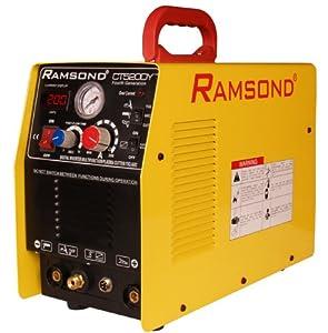Ramsond CT 520DY 3-in-1 Multifunction Digital Inverter Plasma Cutter + TIG Welder + ARC (MMA) Welder, Dual Voltage 110/220V Dual Frequency 50/60Hz by Ramsond