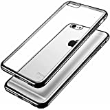 iPhone 6S Case, Ubegood Ultra-Thin [Drop Protection]Shock Resistant [Metal Electroplating Technology] Soft Gel TPU bumper Case for iPhone 6 (2014) / 6s (2015) - Black