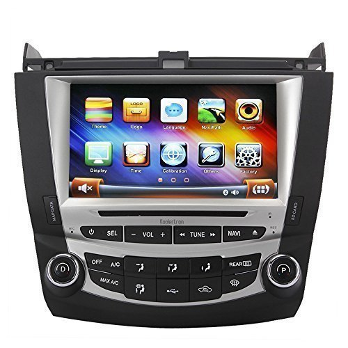 Koolertron For 7th 2003 2004 2005 2006 2007 Honda Accord Single Zone 8 Inch Koolertron Digital HD Touchscreen DVD GPS Navigation System with iPod BT Control Radio RDS FM (OEM Factory Style,Free Map)