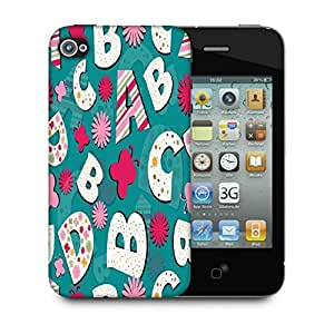 Snoogg Alphabets Butterfly Designer Protective Phone Back Case Cover For Apple Iphone 4