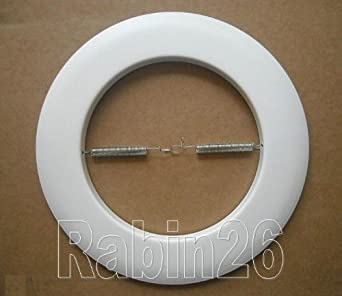 Metal Open Trim Ring For 6 Inch Ceiling R40 PAR38 Recessed Light Can White