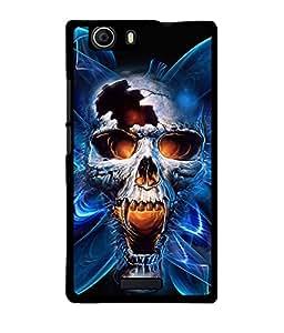 Fuson 2D Printed Skull Designer back case cover for Micromax Canvas Nitro 2 E311 - D4346