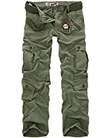 Juanshi Mens Casual Military Army Style CARGO CAMO Combat Work Pants Trousers NO BELT