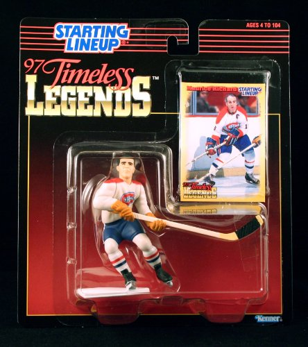 MAURICE RICHARD / MONTREAL CANADIENS 1997 Timeless Legends Kenner NHL Starting Lineup & Exclusive Collector Trading Card