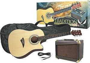 dean guitar starter pack includes acoustic electric cutaway da20 amplifier gig. Black Bedroom Furniture Sets. Home Design Ideas