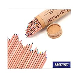 teambuckle Hot MARCO 48 Colors Drawing Pencil Set Non-toxic Oil Base For Artist Sketch