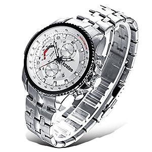 Efloral Men's Business Time Analog Display Swiss Quartz Brown Watch