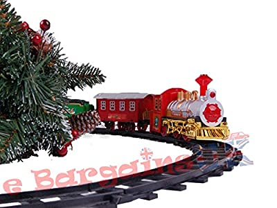 Deluxe Christmas Tree Train Set with Realistic Sound
