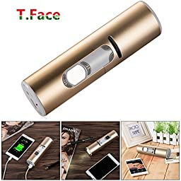FTPCB 5200MHA PowerBank Bike Speaker - Phone Mount Bluetooth Phone Answering Audio MP3 Player Phone Charger Bicycle LED Light (Gold)