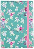 Trendz Universal Folio Case Cover with Built-In Stand and Closing Strap for 9-10 Tablets Compatible with iPad 2/3/4/Air, Samsung Galaxy Tab 2/3/4, Sony Xperia Tablet Z/Z2, Google Nexus 10 - Floral Blue