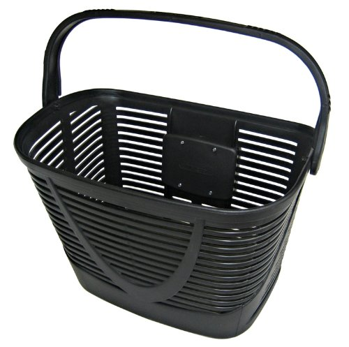 Basket bicycle, Euro basket , Black , Plastic , High quality plastic basket, Adjustable Quick Release, no rusting, no deforming!, Biria