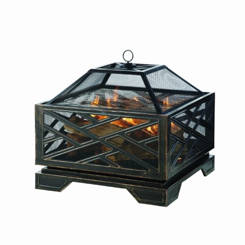 Pleasant Hearth Martin Extra Deep Wood Burning Fire Pit, 26-Inch (Outdoor Firepits Wood Burning compare prices)