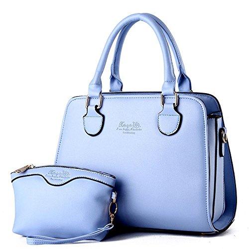 koson-man-mujer-2-en-1-sling-tote-bolsas-asa-superior-bolso-de-mano-azul-claro-azul-kmukhb240
