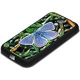 Farfalle 10001, Farfalla, Texture TPU Custodia Rigida Case Cover Protezione Shell Bumper Nero con Design Strutturato...