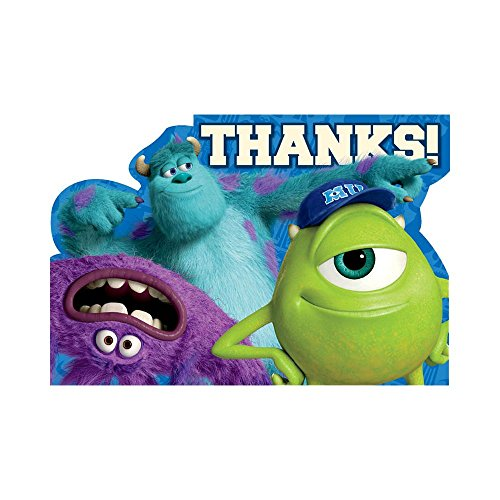 Monsters University Inc. Thank You Postcards w/ Envelopes (8ct)