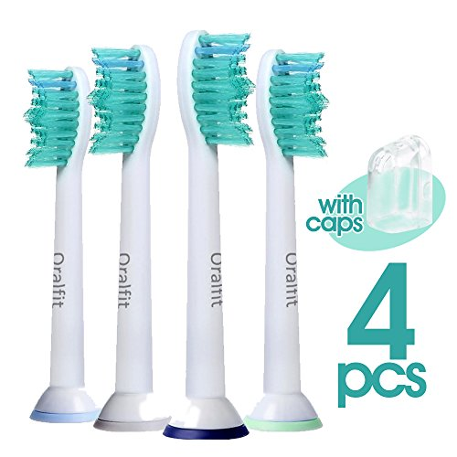 Oralfit Replacement Brush Heads for Philips Sonicare (Pack of 4) (Diamondcare Brush Heads compare prices)