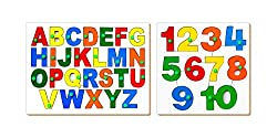 Little Genius ABC and 123 Combo Puzzle, Multi Color