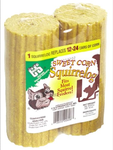 Image of C & S Products Sweet Corn Squirrelog, 2 Unit Pack, 6-Piece