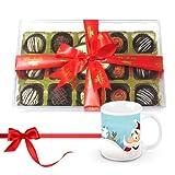 Colorful Desserts Truffles Collection With Christmas Mug - Chocholik Luxury Chocolates