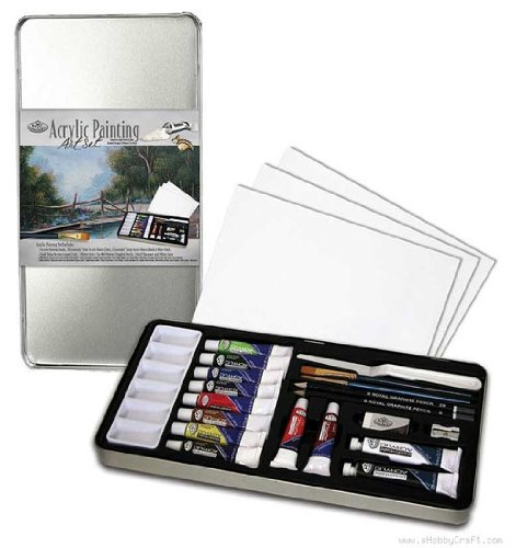 Deluxe Acrylic Paint Art Kit With Tin 14