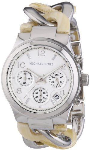Michael Kors Watches Runway Watch (Silver and Horn)