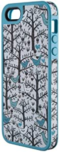 Speck Products FabShell Fabric-Covered Case for iPhone 5 & 5S - Retail Packaging - LoveBirds Peacock Teal