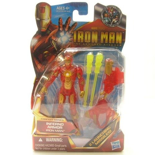 Buy Low Price Hasbro Inferno Armor Iron Man – Iron Man 2 Movie Series Action Figure (B004CLDBYA)