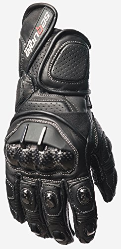 Sequoia Speed Alpha Men's Motorcycle Protective Gloves Bike Racing Full Finger Riding Black New Outdoor Leather Motorbike Mesh Motocross - M - 3 Months Warranty