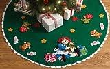 Bucilla Felt Applique Christmas Tree Skirt Kit, 43-Inch Round, 86245 Christmas Morning