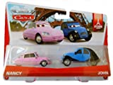 Disney Pixar Cars Collector die-cast 2-pack NANCY & JOHN KISSING COUPLE PARIS TOUR