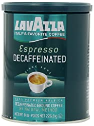 Lavazza Decaffeinated Espresso Ground Coffee, 8-Ounce Cans (Pack of 4) by Lavazza