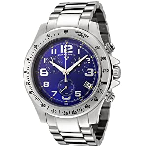 Mens 50041-33 Eograph Collection Chronograph Blue Dial Stainless Steel Watch
