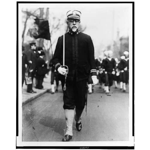 Photo: John Philip Sousa,leader,US Marine Band,Navy uniform,marching