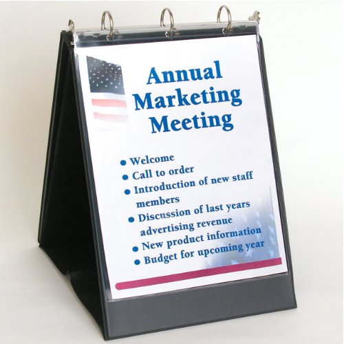 StoreSMART - Flip Chart Binder - Portrait / Vertical - Black - VH430 (Stand Up Recipe Holder compare prices)