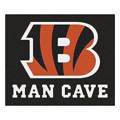 FANMATS 14287 NFL Cincinnati Bengals Nylon Universal Man Cave Tailgater Rug