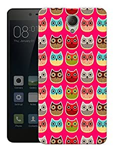 """Humor Gang Happy Owls Printed Designer Mobile Back Cover For """"Xiaomi Redmi Note 2"""" (3D, Matte, Premium Quality Snap On Case)"""