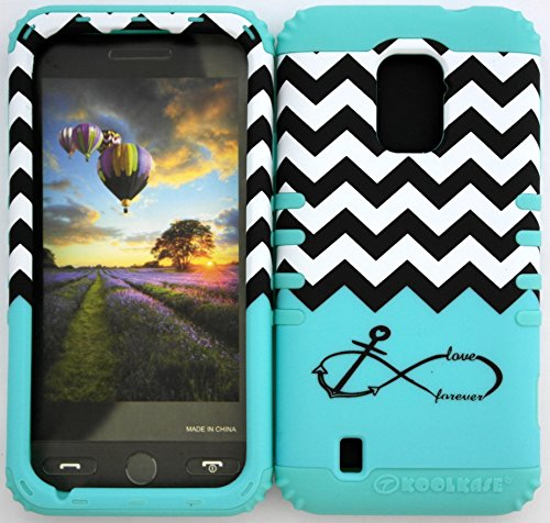 Wireless Fones Tm Zte Majesty Z796C Zte Source N9511 Tuff Impact Hybird Cover Case Blue Block Chevron Anchor Infinity On Baby Teal Silicone Skin front-848509